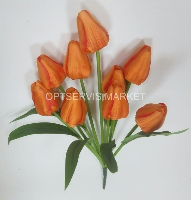 Тюльпаны закрытые, высота 43см, 9 цветов