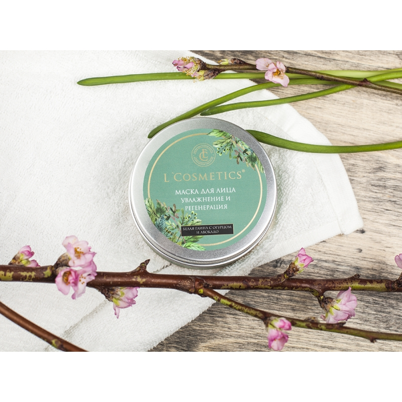 Маска для лица Цветок сакуры и чайное дерево, 250 гр