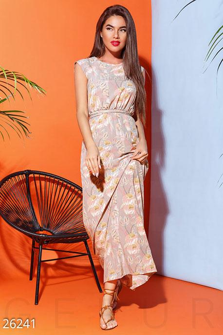 Пастельное летнее платье