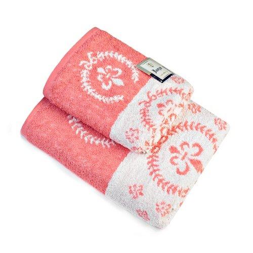 Махровое полотенце Валуа-коралл 450 гр.
