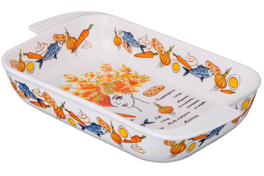 """Блюдо для слоеных салатов Lefard 69-2504 \""""мимоза\"""" 27x14x5 см"""