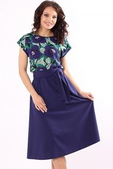 Эффектное платье с поясом