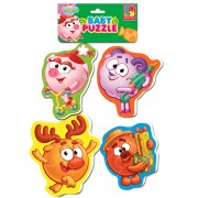 "Мягкие пазлы Baby puzzle Смешарики \""Нюша, Бараш, Лосяш, Копатыч\"""
