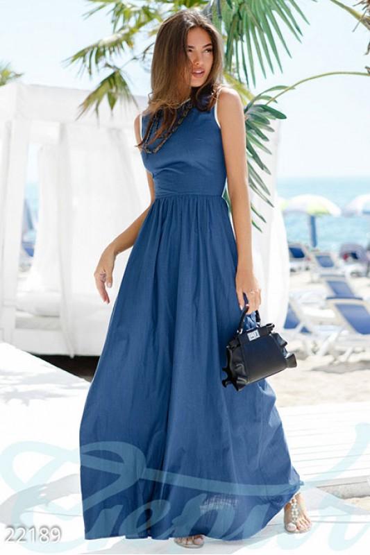 Длинное льняное платье Подробнее: https://gepur.com/product/plate-22189