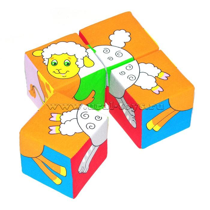 "Игрушка кубики ""Собери картинку""(Животные-2)"
