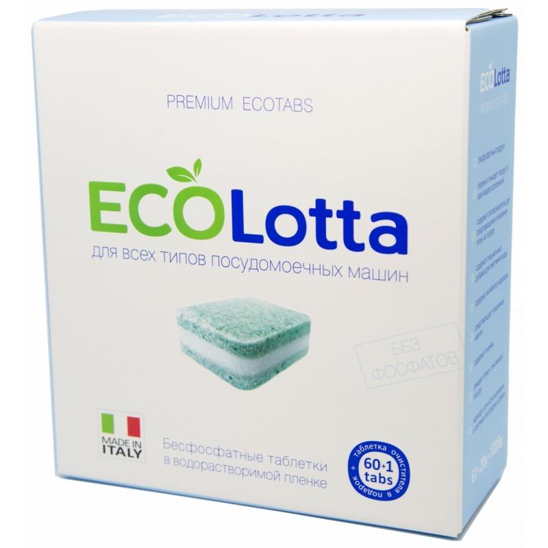 "Таблетки для ПММ \""ECOLOTTA\"" Allin1 60 таб. + очист. 1 шт."