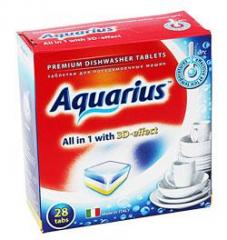 """Таблетки для ПММ \""""Aquarius\"""" ALLin1 (midi) 28 штук"""