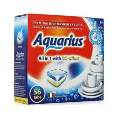"""Таблетки для ПММ \""""Aquarius\"""" ALLin1 (mega) 56 штук"""