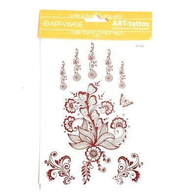 ART-VISAGE Art-tattoos Тату дизайн 203 - Мехенди цветы жизни (коричневый)