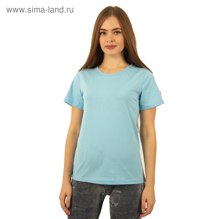 Футболка женская БК-137 цвет голубой, р-р 52