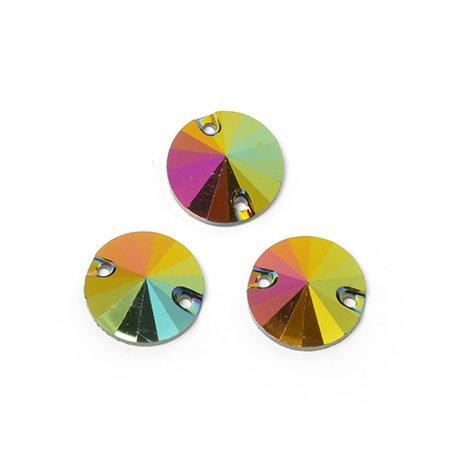 Стразы пришивные акриловые (Resin) Tesoro Crystal арт.TS.ED1.2.01 цв.1 12 мм
