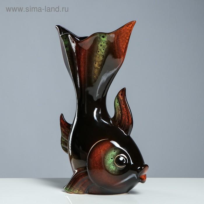 "Ваза ""Золотая рыбка"" чёрная"