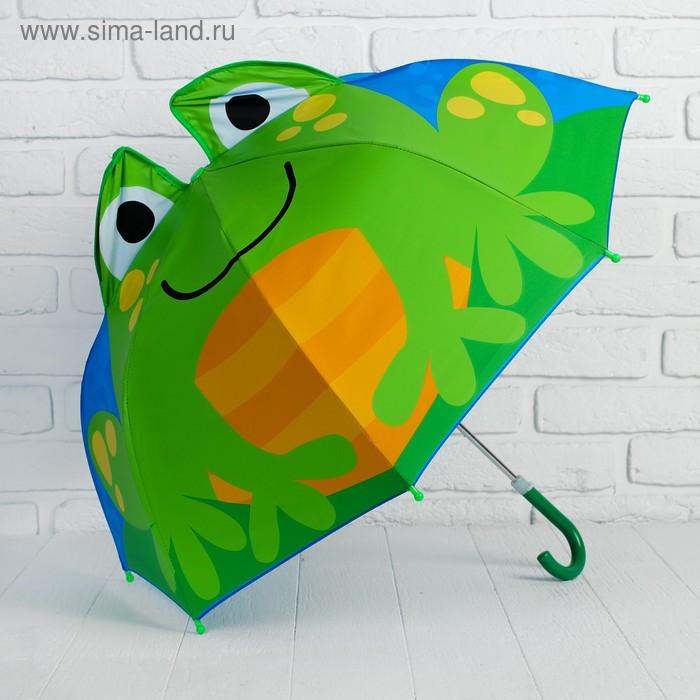 """Зонт детский фигурный """"Лягушка"""""""