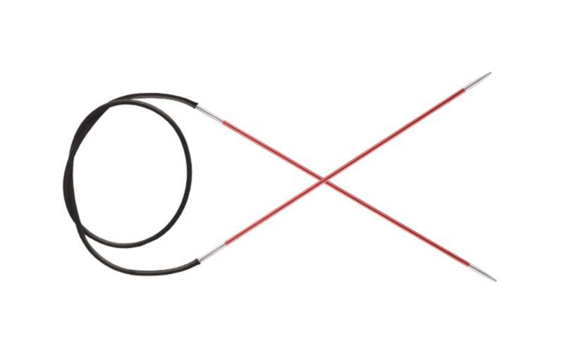 47061 Knit Pro Спицы круговые Zing 2мм/40см, алюминий