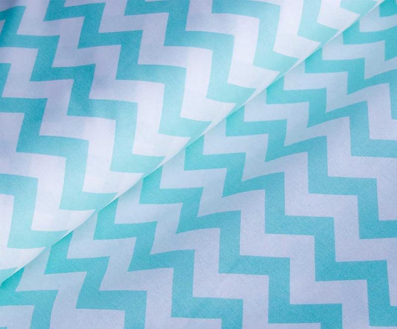 Ткань хлопок ЗигЗаг-1692, 125г/м², 100% хлопок, шир.150см, цв.16 мятный уп.3м