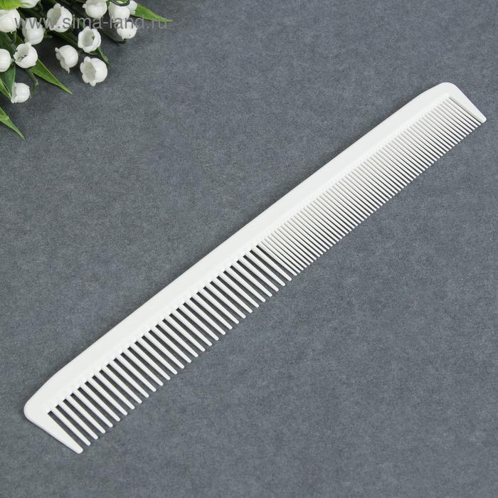 Расчёска антистатическая, комбинированная, цвет белый