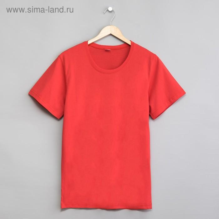 Футболка женская цвет красный, р-р 52