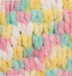 Пряжа для вязания Ализе Puffy color (100% микрополиэстер) 5х100г/9м цв.5862