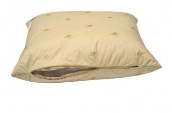 """Подушка Premium Soft """"Стандарт"""" Camel Wool (верблюжья шерсть, на молнии) 70*70 см"""