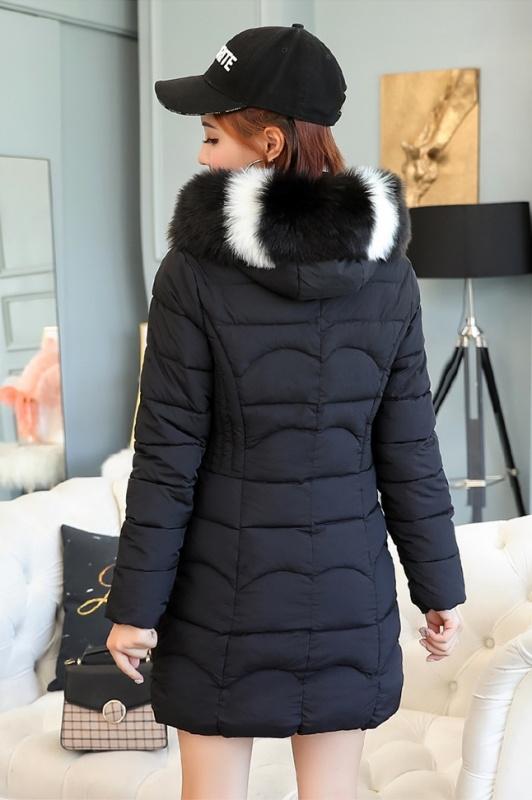 Маленькая девочка зимнее теплое пальто младших школьников меховым