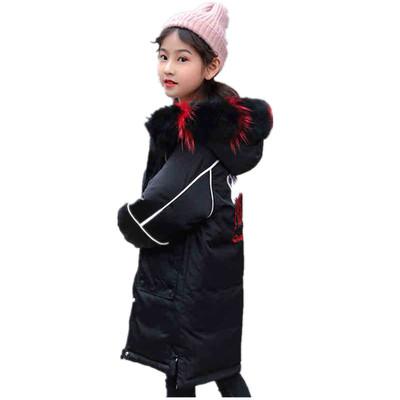 Девушки корейской версии пуховик 2019 зимние девушки длинный участок двойной пуховик 9