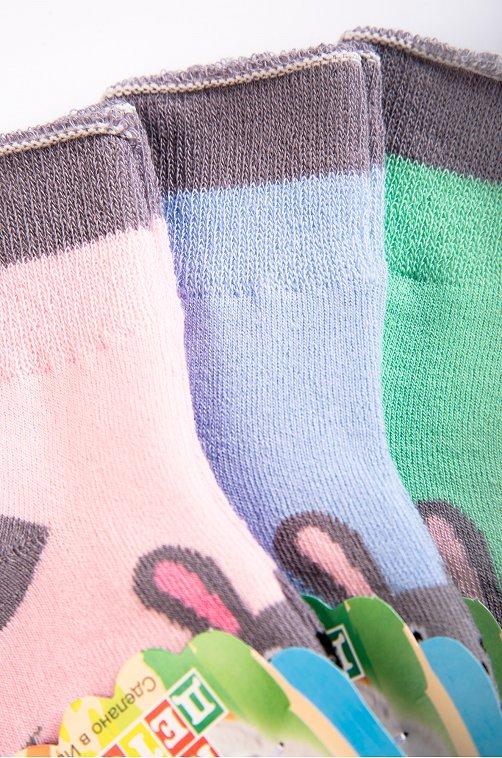 Носочки махровые для девочки 3пары Топ Топыч