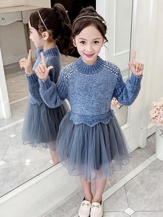 Синее платье 2019