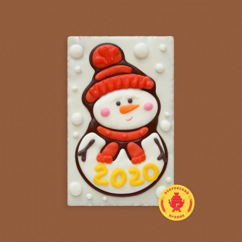 """Снеговик в шапке с шарфом \""""2020\"""" (130 грамм)"""
