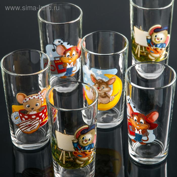 """Набор стаканов 230 мл \""""Мышки\'\', 6 шт"""