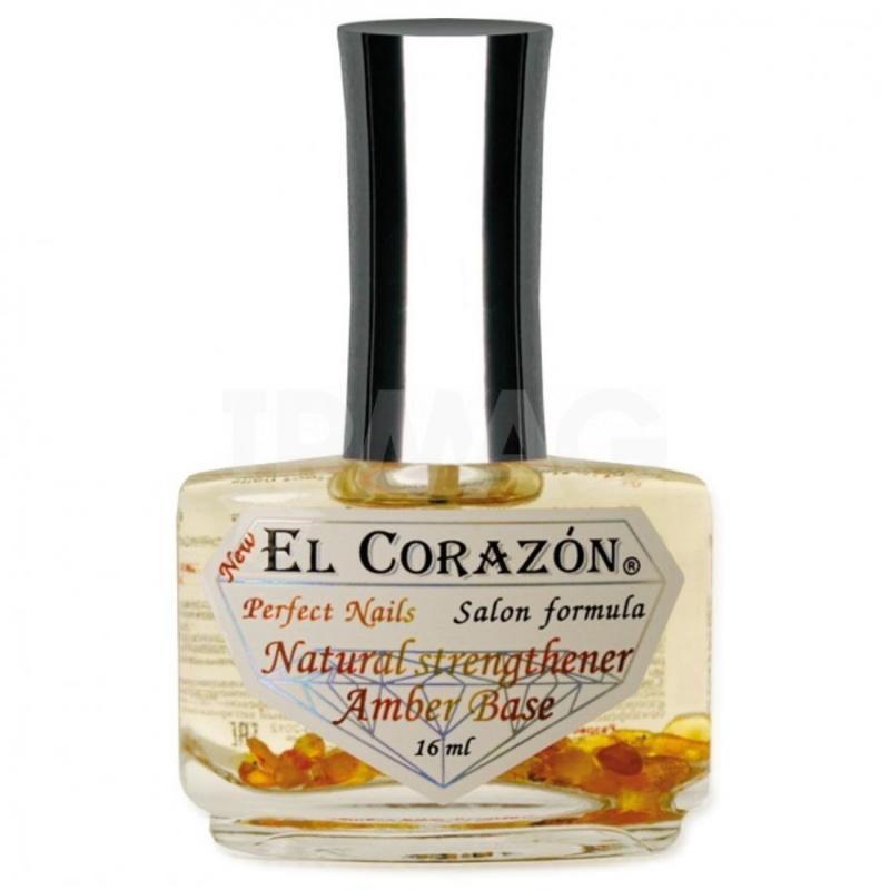 "El Corazon Perfect Nails №436 Выравнивающая база под лак с янтарной кислотой ""Natural strengthener Amber Base"" 16 мл"