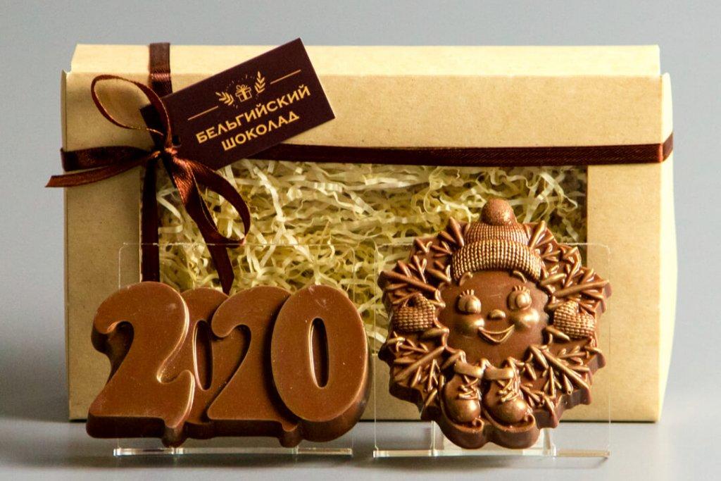 Шоколадные фигурки 2в1 «2020 + Снежинка 1»