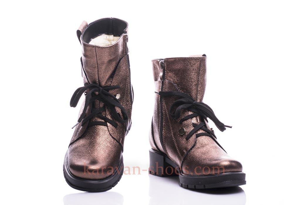 Женские кожаные ботинки MissVita MS262 Бронза