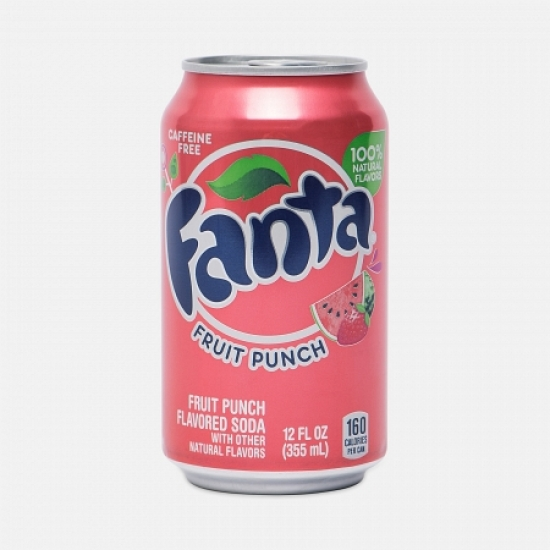 Fanta фруктовый пунш 1 баночка   1 «Coca-Cola» ι США