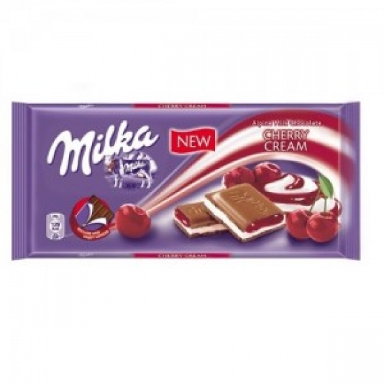 Милка 100 гр. вишневый крем    1 «MILKA» ι Германия
