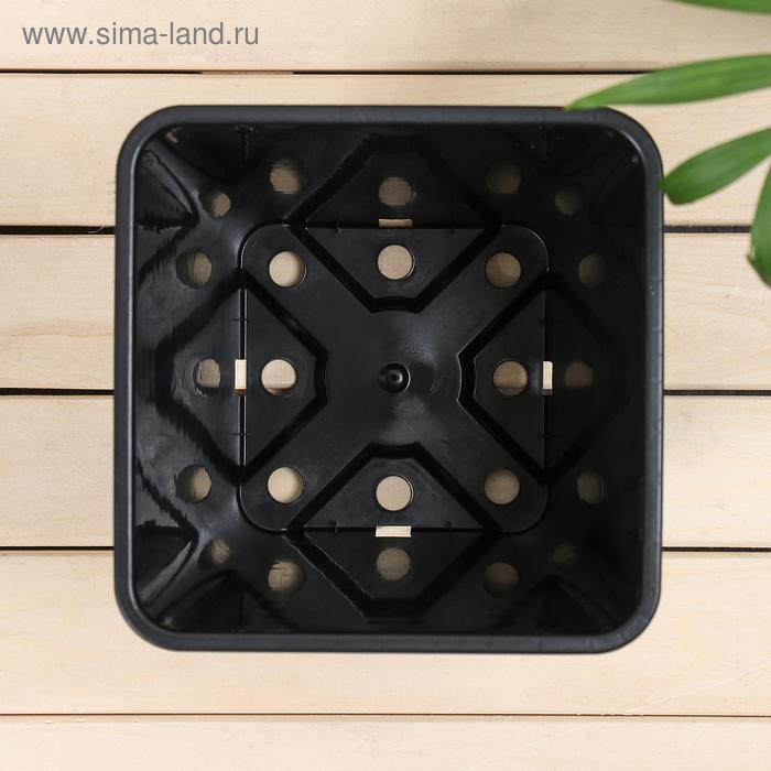 Горшок для рассады, 5,5 л, 19,5 × 19,5 × 23 см