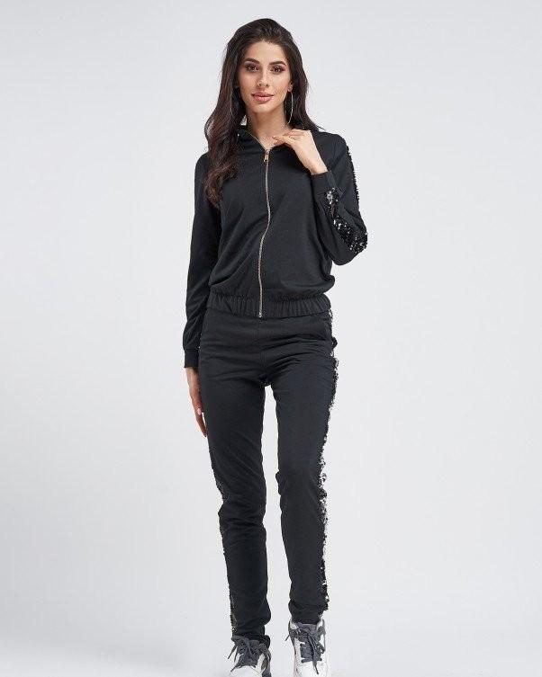 Спортивные костюмы 11280_черный от ISSA PLUS