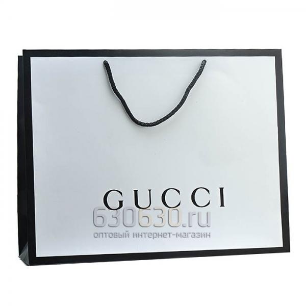 Подарочный Пакет Gucci 32 х 42 см (Белый)