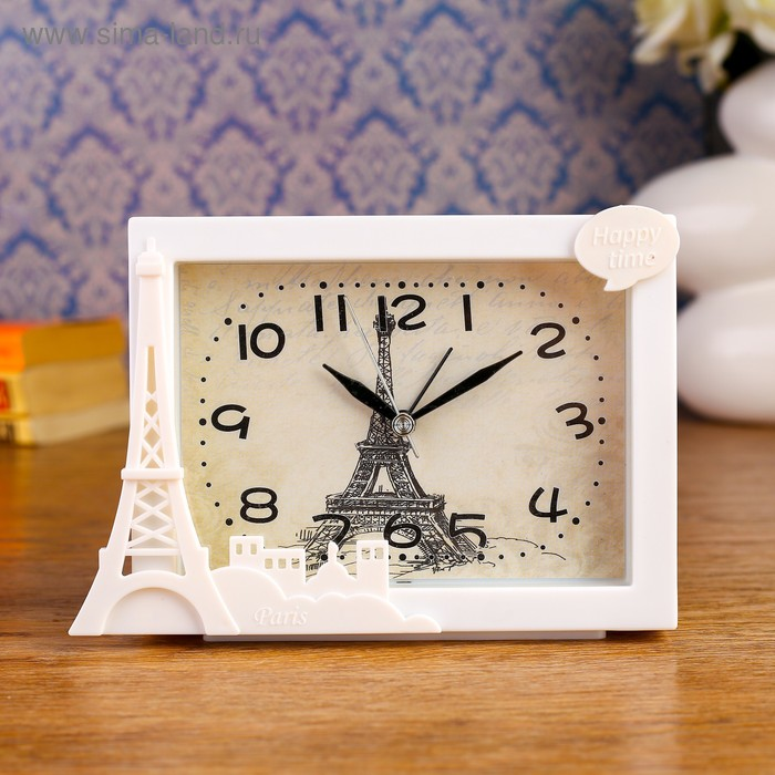 """Будильник """"Пейзажи Парижа"""", 16.5х11.5 см, микс"""