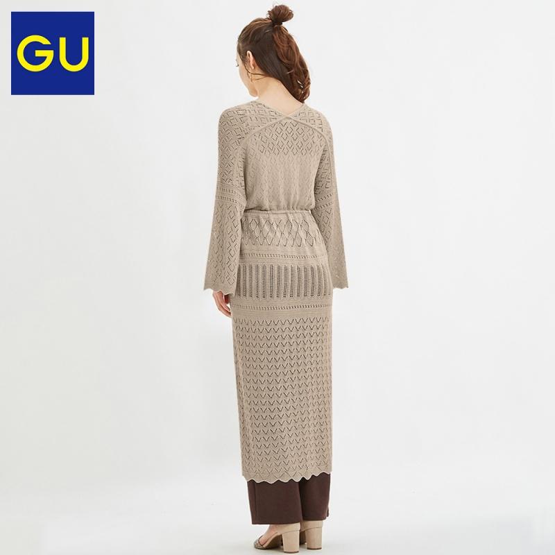 Gu极优女装镂空针织长款开衫2020夏季新款时尚复古优雅开衫321897-кадиган