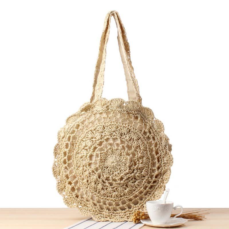 Плетеная сумка BG-S-035-BIEGE Материал сумки: хлопок