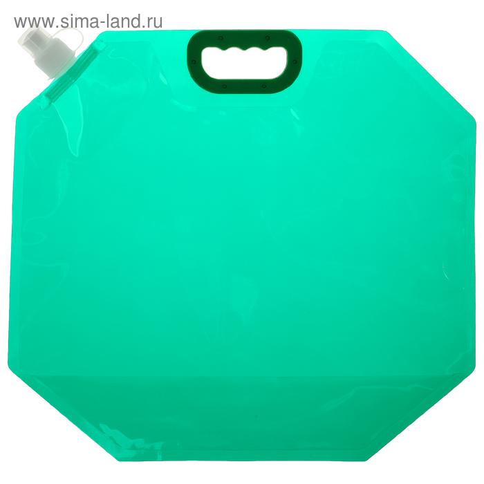 Канистра туристическая 10 л, цвет зелёный