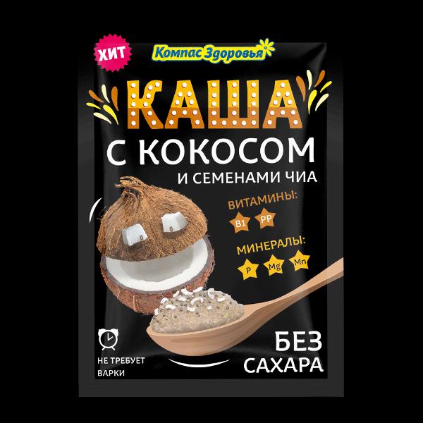 Каша овсяная с кокосом порционная заварная 30гр