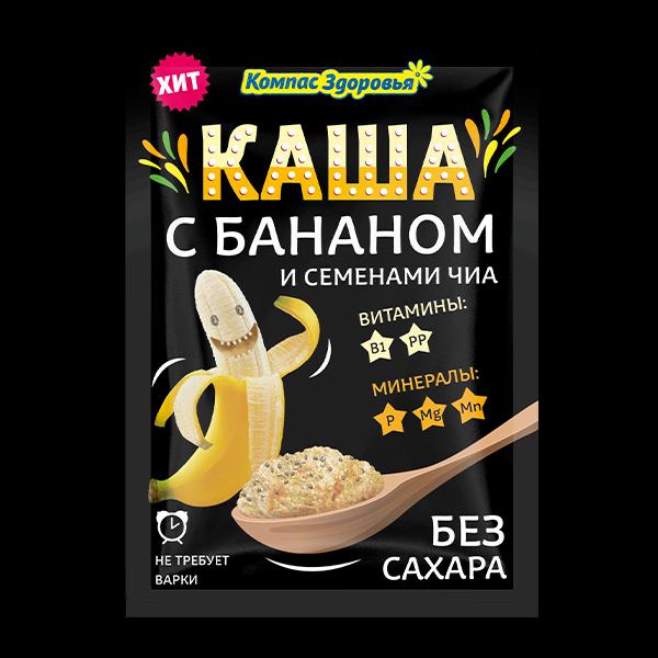 Каша овсяная с бананом порционная заварная 30гр
