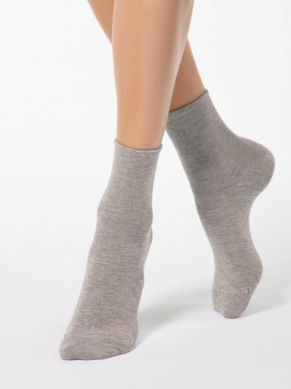 Теплые меланжевые носки с ангорой COMFORT