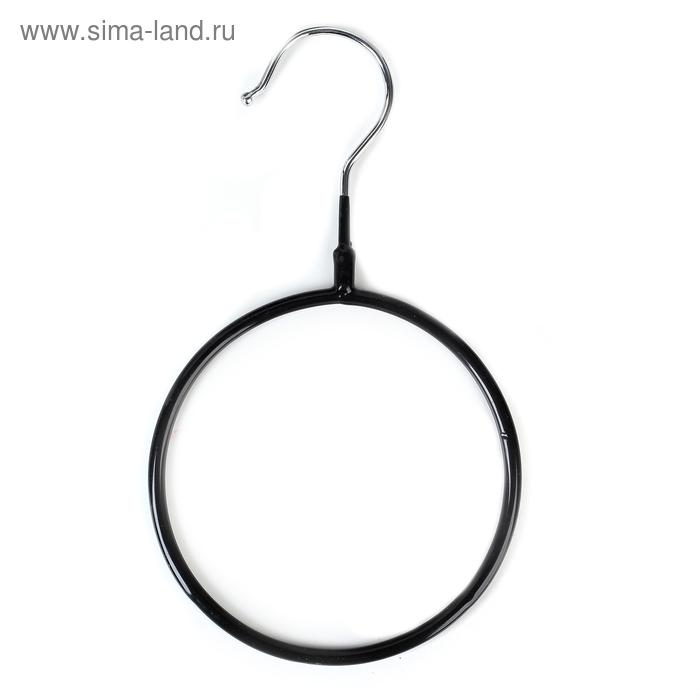 Вешалка для галстуков и шарфов антискользящая 13.5×23×0.7 см, цвет чёрный