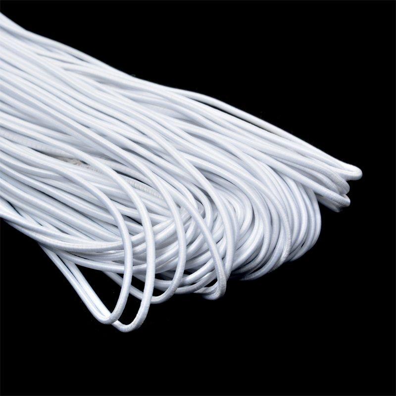 Резинка TBY шляпная (шнур круглый) цв.F101 белый 3,0мм рул.100м