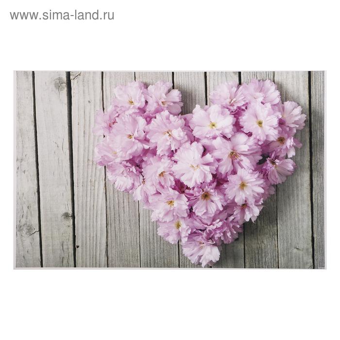 "Фотофон винил ""Цветочное сердце"" 80х125 см"