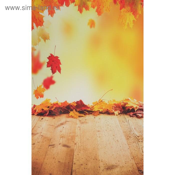 """Фотофон винил \""""Осенний листопад\"""" стена+пол 80х125 см"""