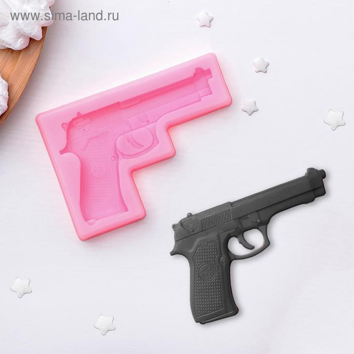 """Молд силиконовый 11×7,5 см \""""Пистолет\"""""""