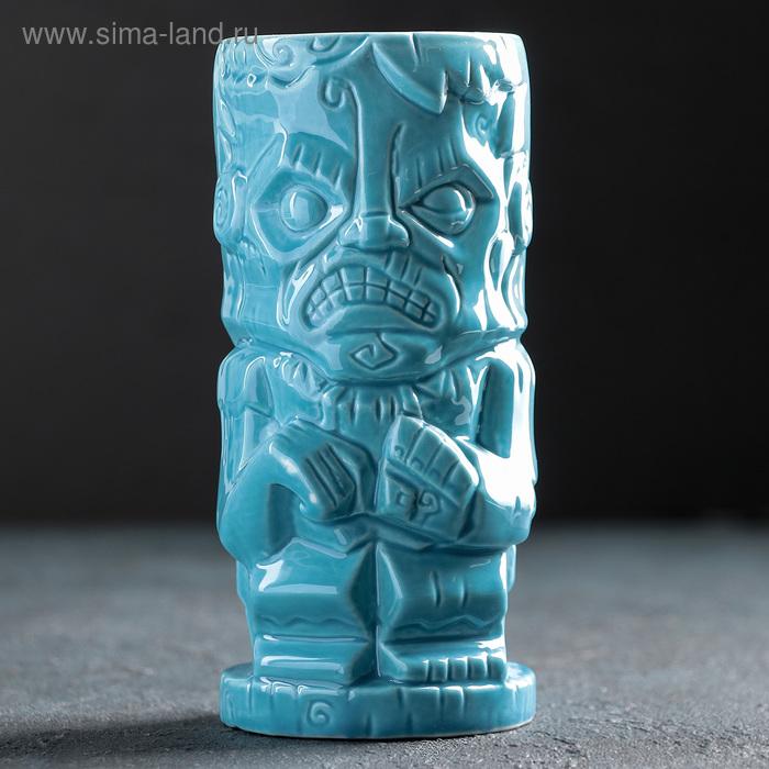 "Стакан тики 480 мл ""Зомби"", цвет синий"